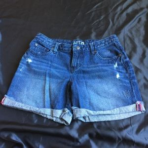 Apt. 9 jean distressed jean shorts